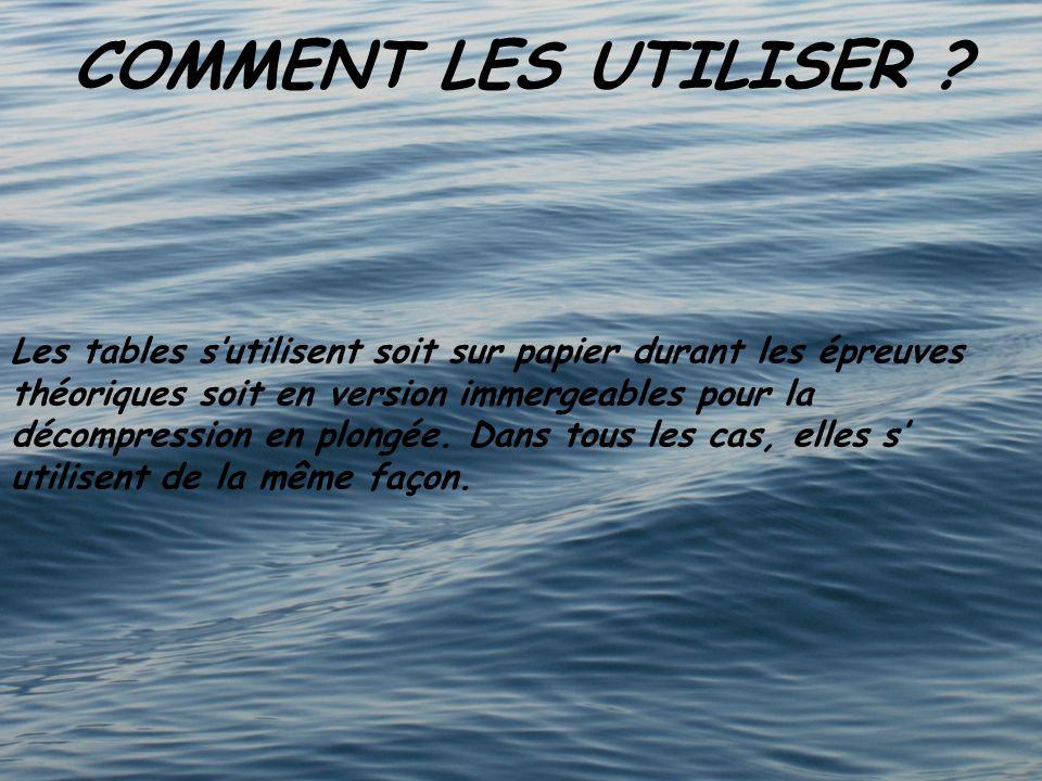 COMMENT LES UTILISER .