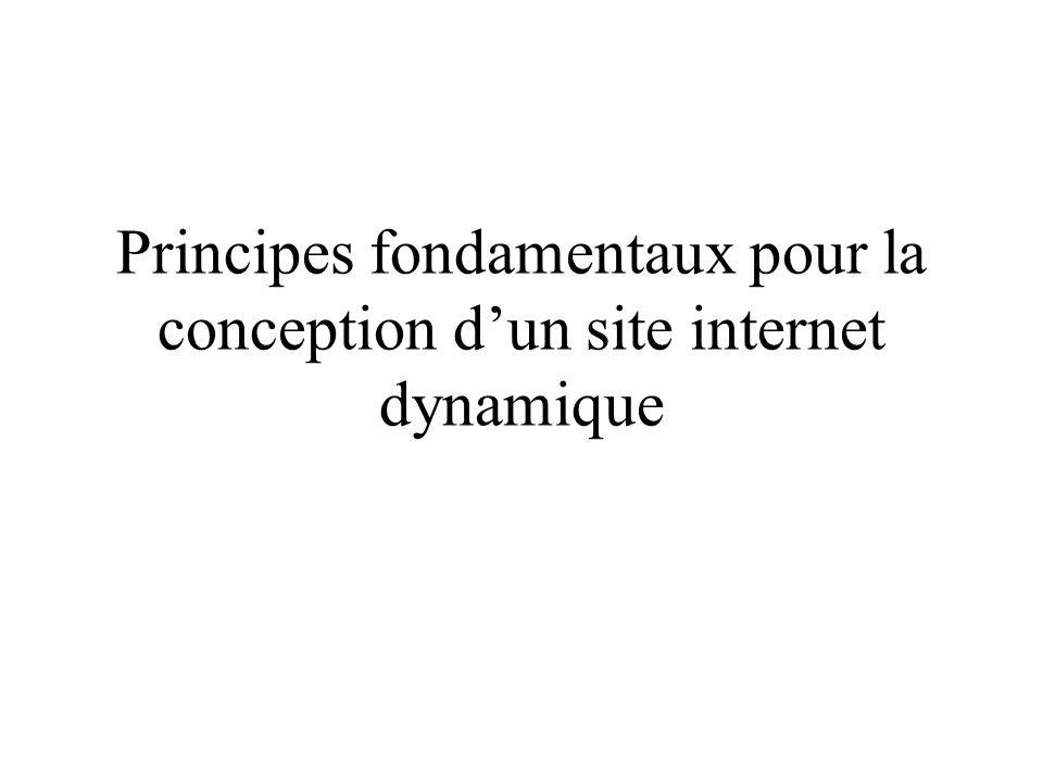 Principes fondamentaux pour la conception dun site internet dynamique