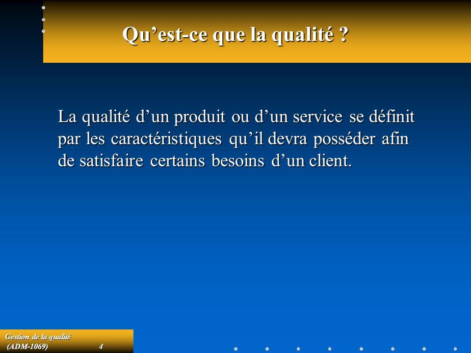 Gestion de la qualité (ADM-1069)45 (ADM-1069)45 Les tables de la norme MIL-STD.105D Cette norme est utilisée au Québec avec la référence BNQ-9911-105.Cette norme est utilisée au Québec avec la référence BNQ-9911-105.