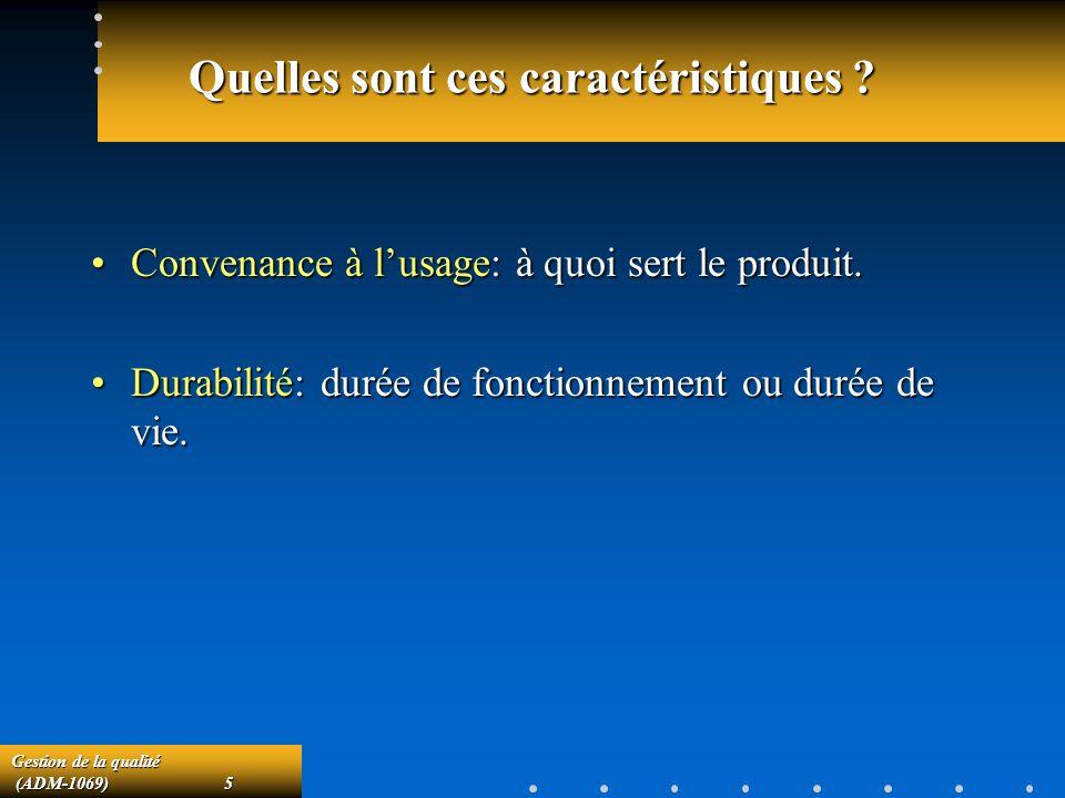 Gestion de la qualité (ADM-1069)66 (ADM-1069)66 Carte de contrôle par attributs.