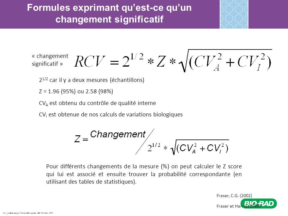 2011_10/Sales Support France/ QSD Logiciels /JBR/ Formation URT2 Formules exprimant quest-ce quun changement significatif 2 1/2 car il y a deux mesure