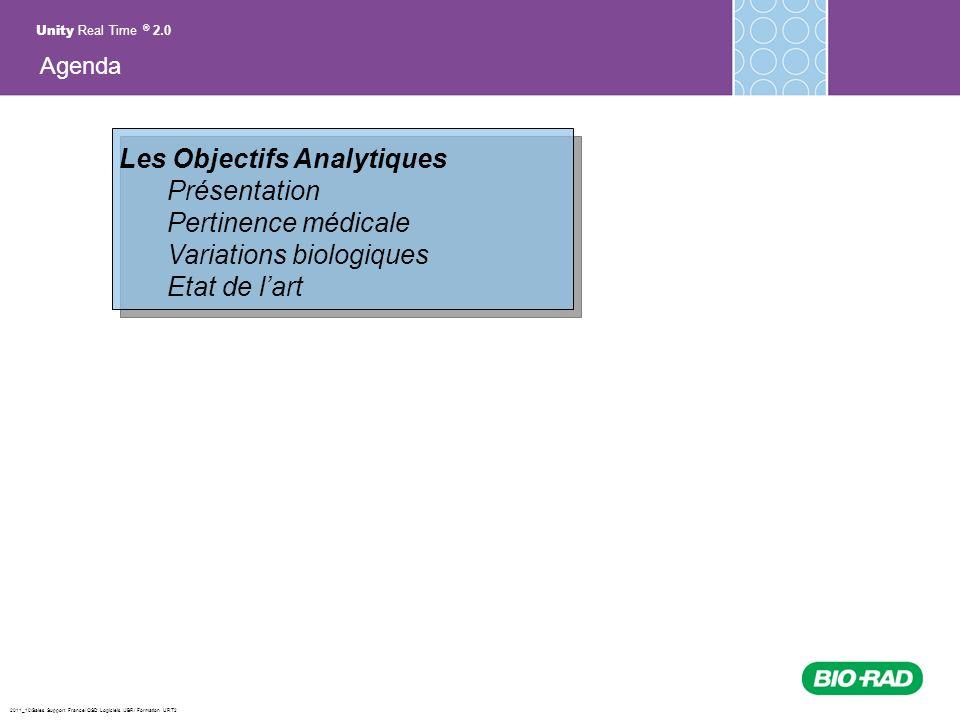 2011_10/Sales Support France/ QSD Logiciels /JBR/ Formation URT2 Les Objectifs Analytiques Présentation Pertinence médicale Variations biologiques Eta