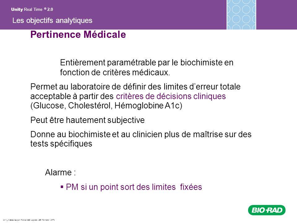 2011_10/Sales Support France/ QSD Logiciels /JBR/ Formation URT2 Pertinence Médicale Entièrement paramétrable par le biochimiste en fonction de critèr