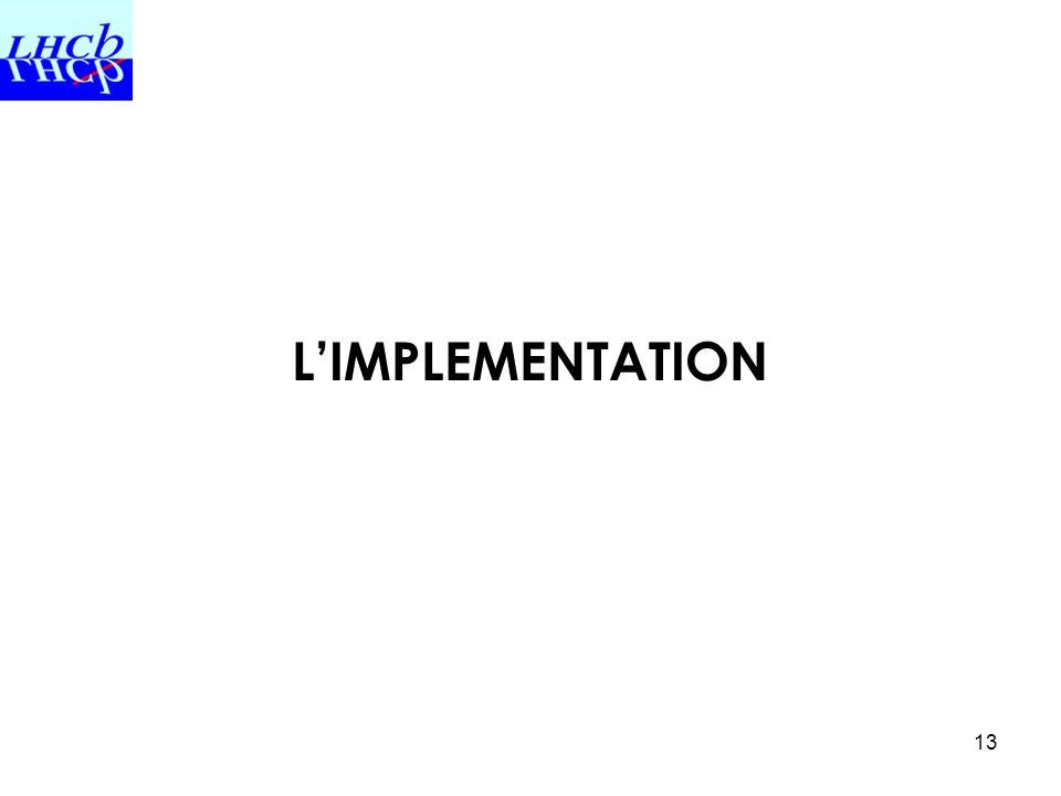 13 LIMPLEMENTATION