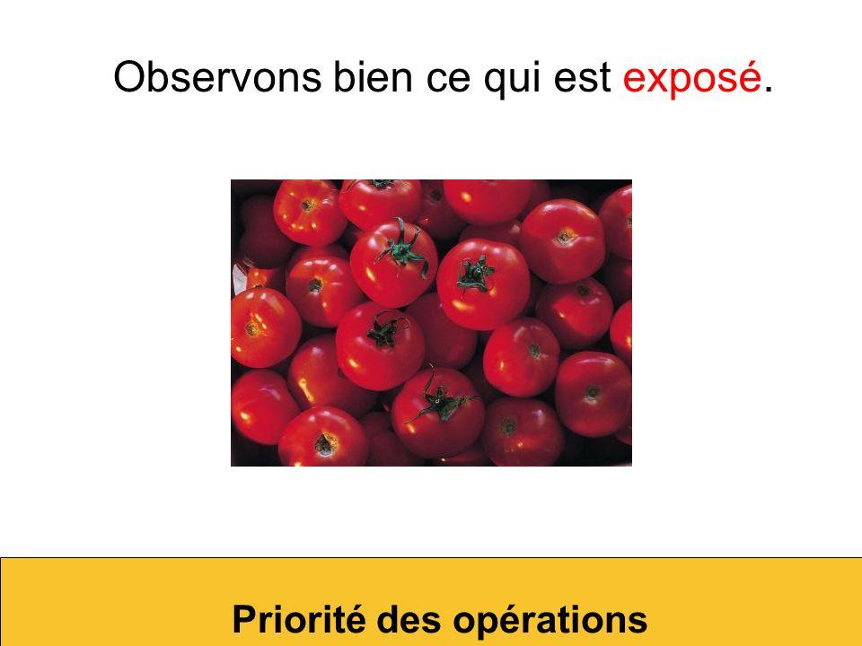 Combien de tomates voulons-nous ? Priorité des opérations