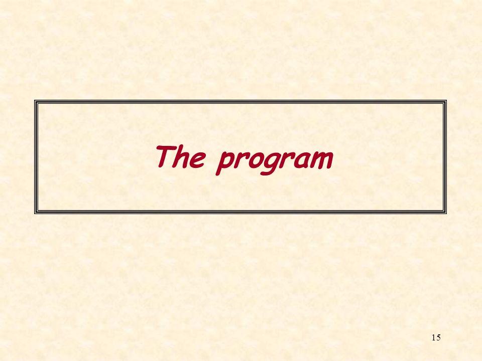15 The program