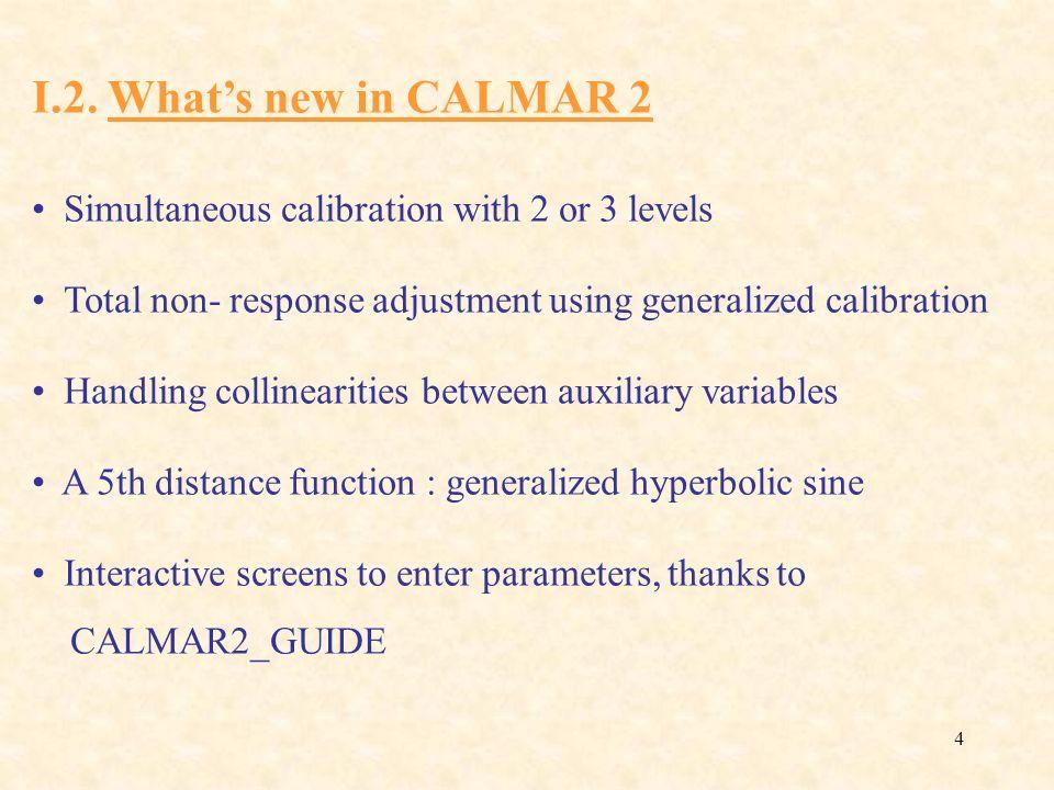 45 Direct generalized calibration (E) Interpretation Response model : (E) can be written :