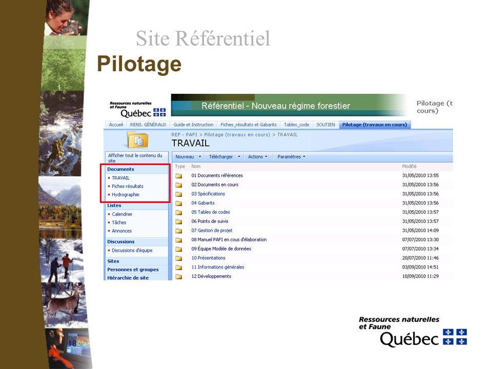 18 Site Référentiel Pilotage