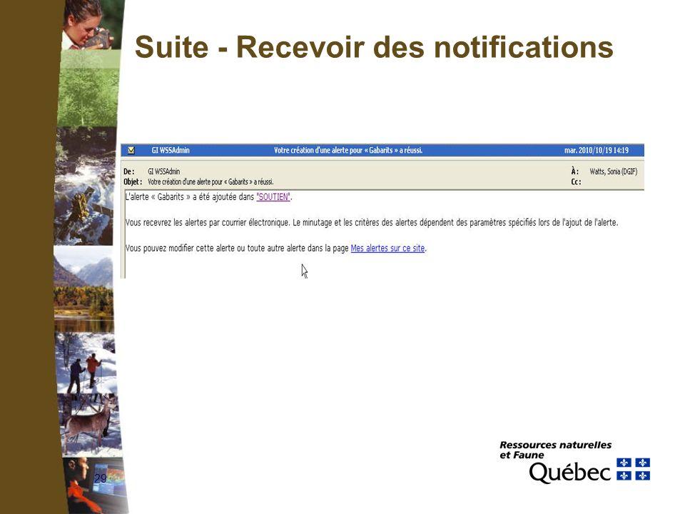 29 Suite - Recevoir des notifications