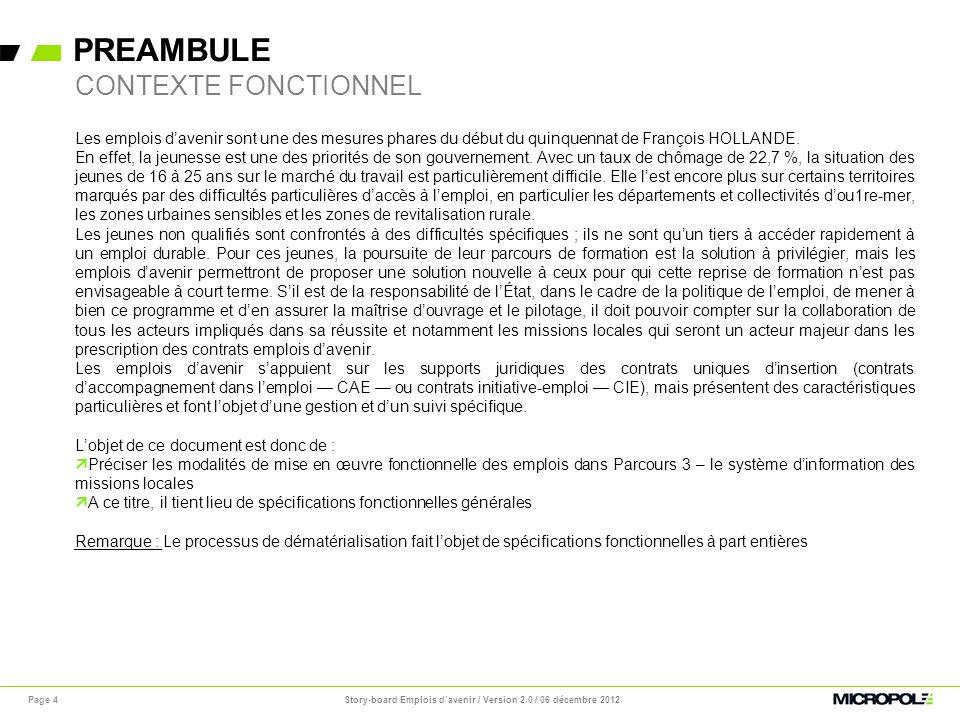 PREAMBULE Page 4 Les emplois davenir sont une des mesures phares du début du quinquennat de François HOLLANDE. En effet, la jeunesse est une des prior