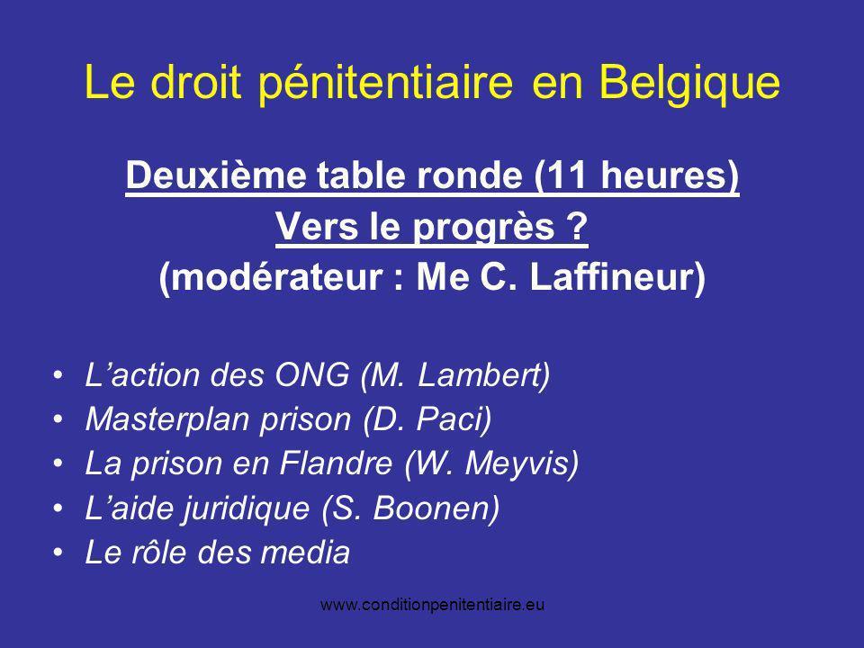 www.conditionpenitentiaire.eu Perspectives européennes Vers une déclaration de principe .