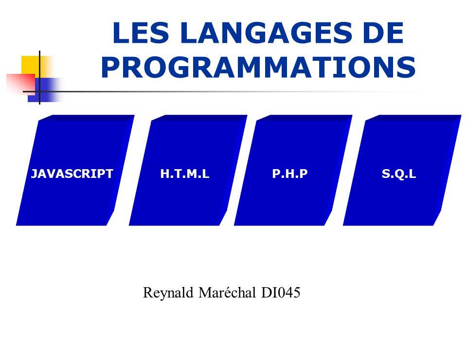 LANGAGE JAVASCRIPT Le langage JavaScript est une marque déposée par Netscape.
