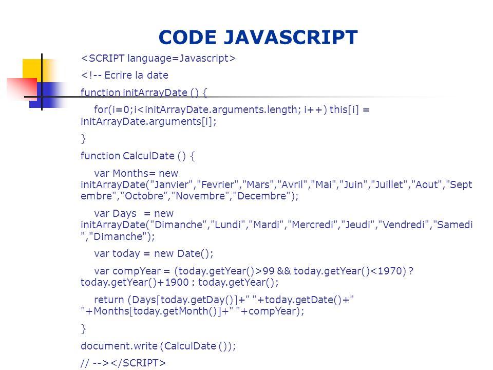 LANGAGE H.T.M.L Le langage HTML, est apparu vers 1990, fin 1994 une convention internationale a été créé, ainsi la version HTML 2.0 est apparue.