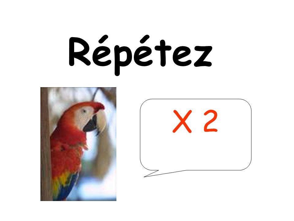Répétez X 2