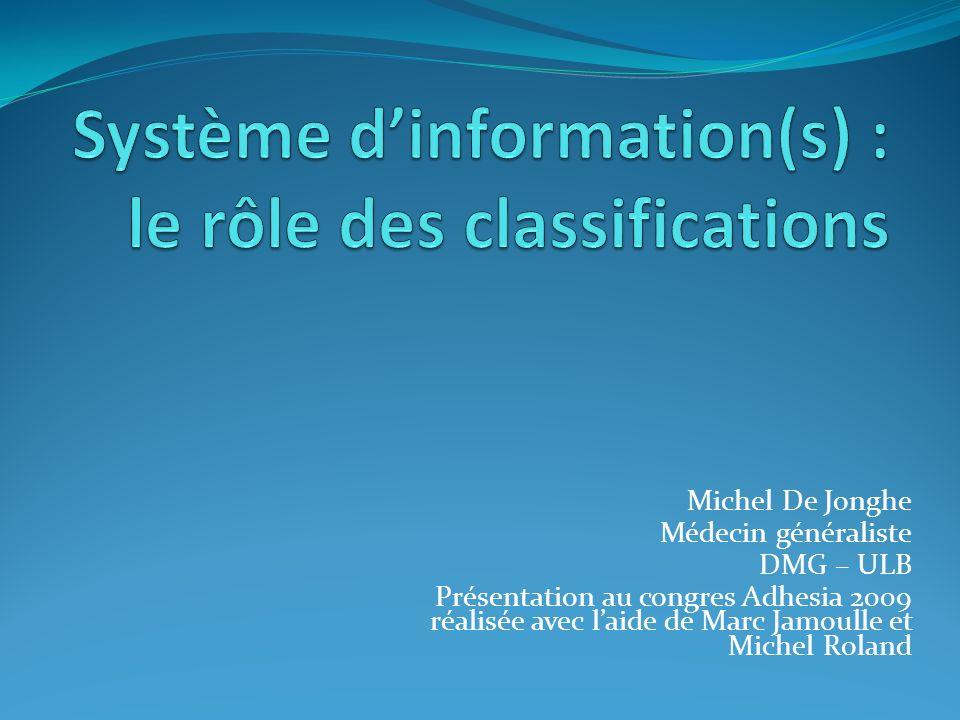 Michel De Jonghe Médecin généraliste DMG – ULB Présentation au congres Adhesia 2009 réalisée avec laide de Marc Jamoulle et Michel Roland