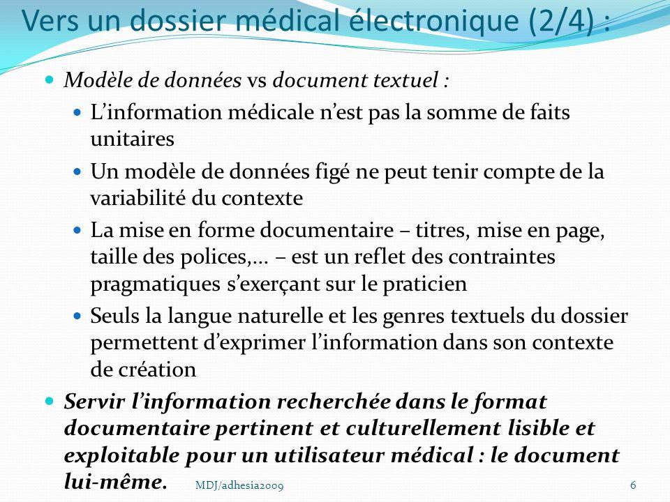 27 1987 : International Classification of Primary Care (ICPC) ICHPPC-2-d ICPC Histoire de la CISP RfECIC-process-PC MDJ/adhesia2009