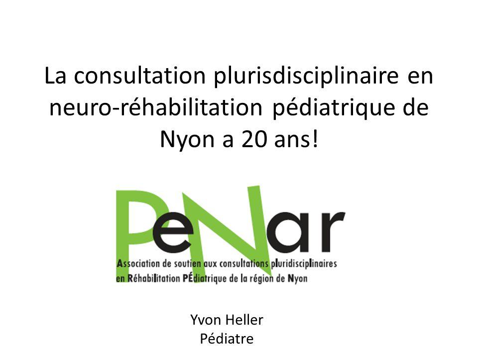 Historique et Objectifs 20 ans de la consultation pluridisciplinaire en réhabilitation pédiatrique de la région de Nyon (1992-2012) 1992 – création de la consultation sur linitiative du Dr.