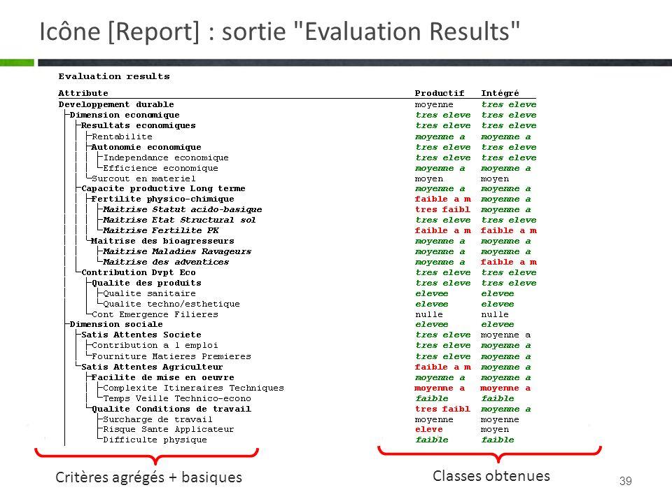 39 Icône [Report] : sortie