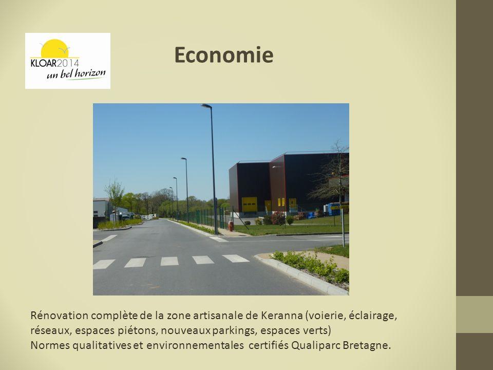 Economie Rénovation complète de la zone artisanale de Keranna (voierie, éclairage, réseaux, espaces piétons, nouveaux parkings, espaces verts) Normes