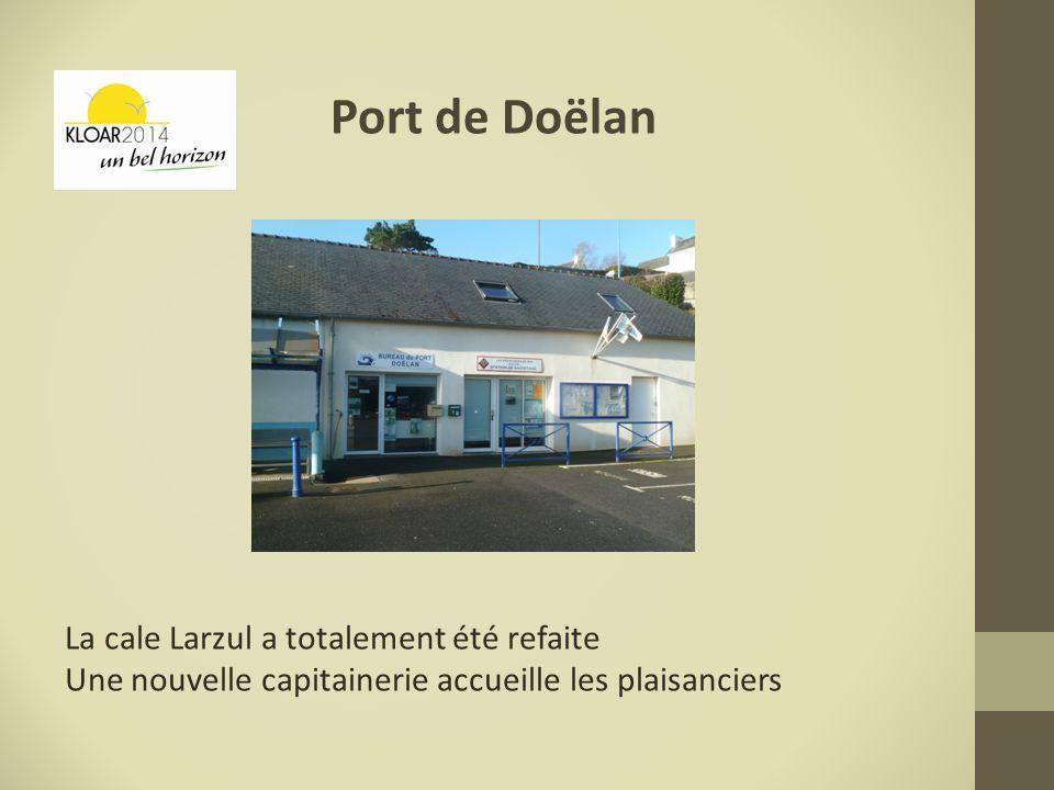Port de Doëlan La cale Larzul a totalement été refaite Une nouvelle capitainerie accueille les plaisanciers