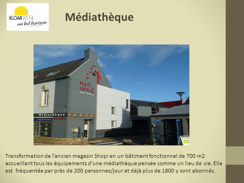 Médiathèque Transformation de lancien magasin Shopi en un bâtiment fonctionnel de 700 m2 accueillant tous les équipements dune médiathèque pensée comm