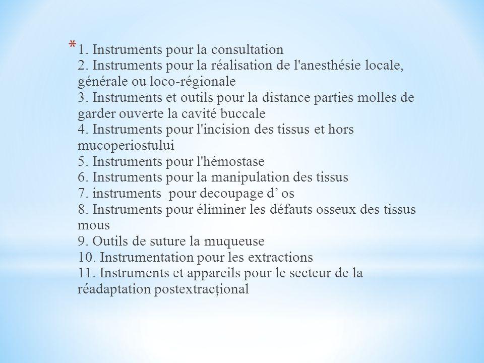 * 1.Instruments pour la consultation 2.