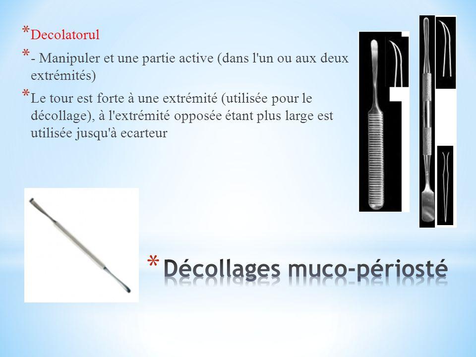 * Decolatorul * - Manipuler et une partie active (dans l un ou aux deux extrémités) * Le tour est forte à une extrémité (utilisée pour le décollage), à l extrémité opposée étant plus large est utilisée jusqu à ecarteur