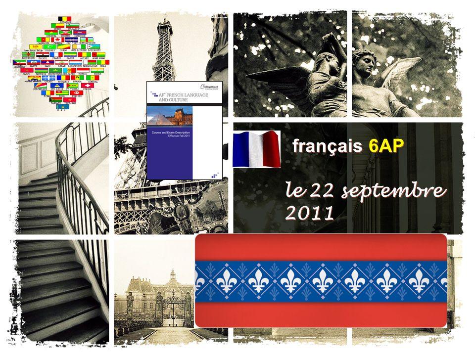français 6AP le 22 septembre 2011