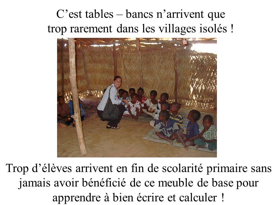 Cest tables – bancs narrivent que trop rarement dans les villages isolés .