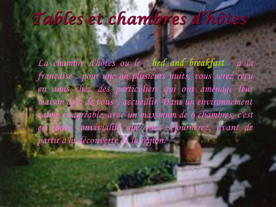 Tables et chambres dhôtes