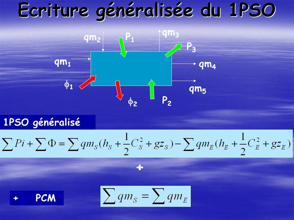 Ecriture généralisée du 1PSO P1P1 P2P2 P3P3 1 2 qm 1 qm 2 qm 3 qm 4 qm 5 + + PCM 1PSO généralisé