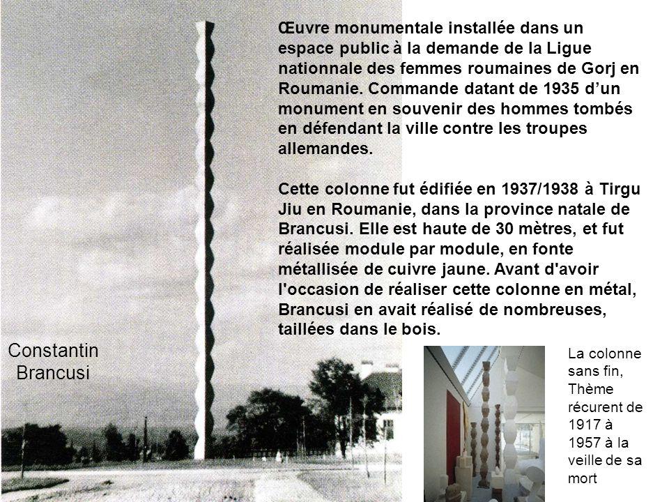 Œuvre monumentale installée dans un espace public à la demande de la Ligue nationnale des femmes roumaines de Gorj en Roumanie.