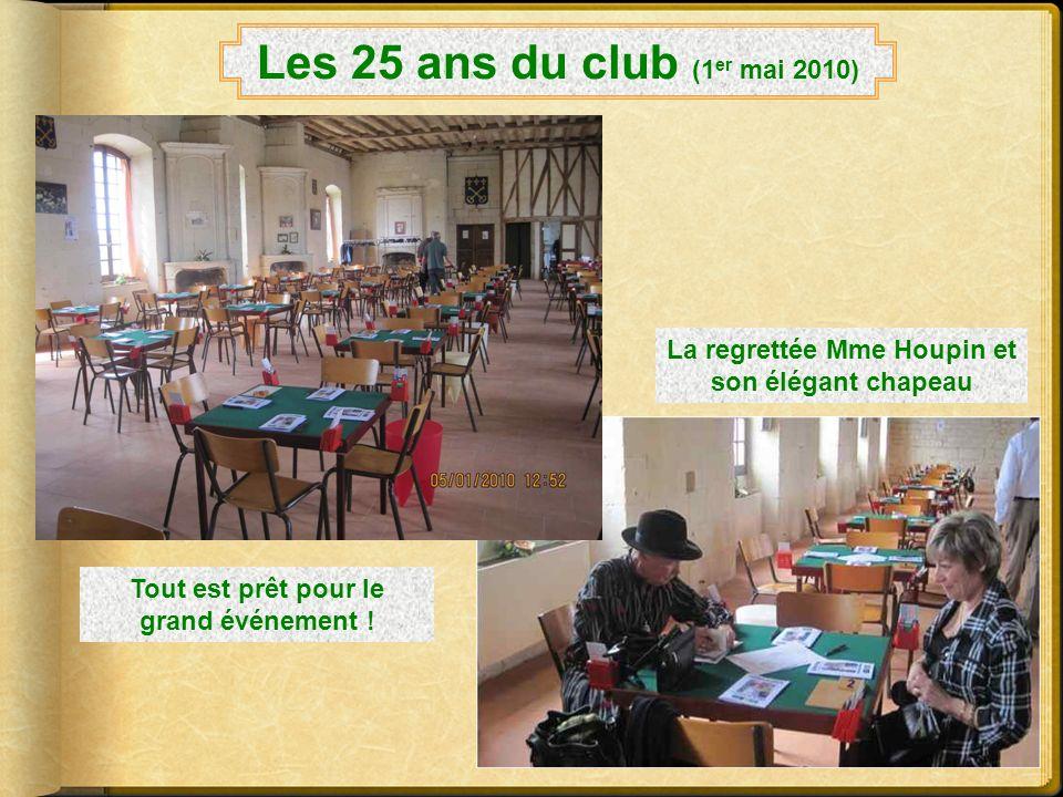 Les 25 ans du club (1 er mai 2010) Laffiche réalisée par Claudine