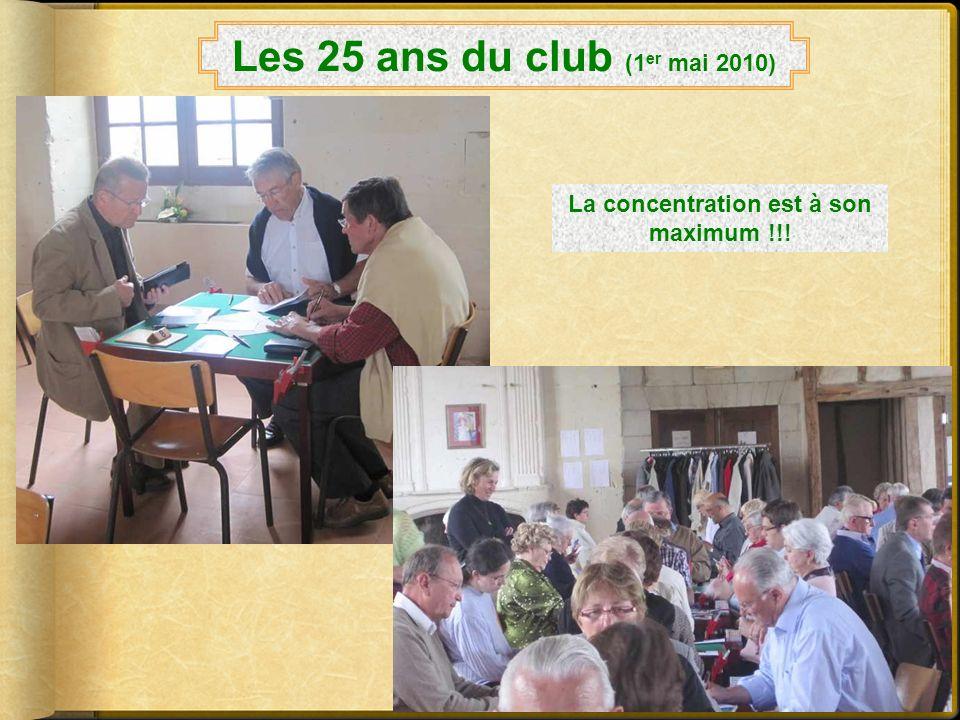 La regrettée Mme Houpin et son élégant chapeau Les 25 ans du club (1 er mai 2010) Tout est prêt pour le grand événement !
