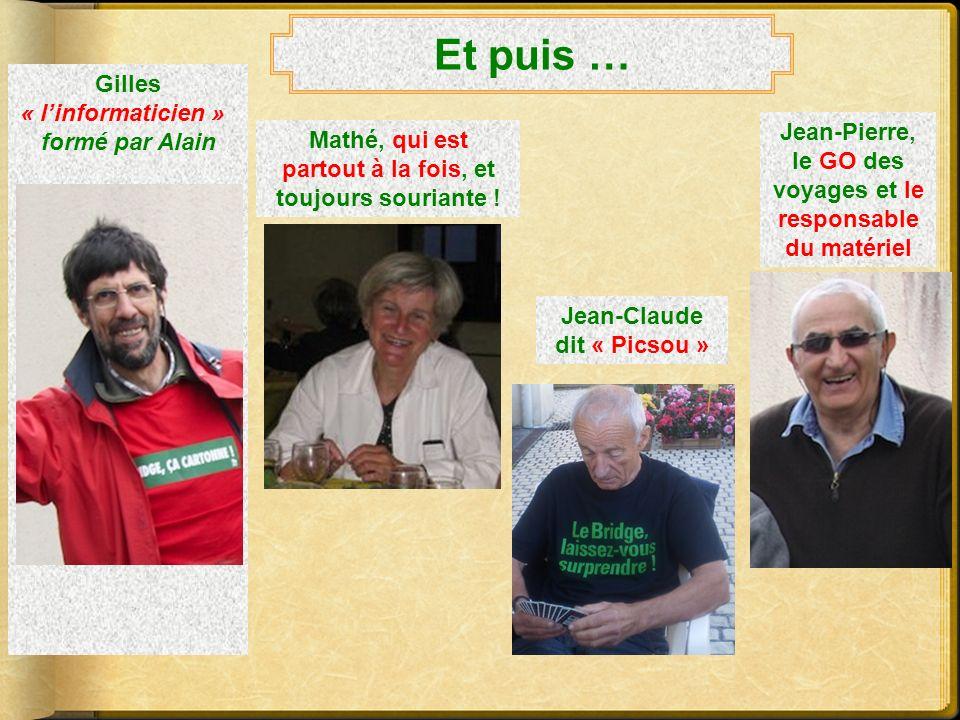 Léquipe dirigeante… Il y a dabord Martine, linaltérable Présidente Et les deux vice-présidents Gérard, le responsable de lenseignement Christian, lorg