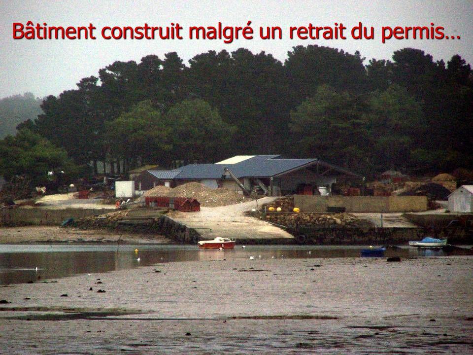 Bâtiment construit malgré un retrait du permis…