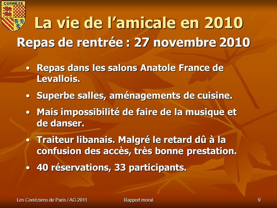 Les Corréziens de Paris / AG 2011 Rapport moral 8 Visite des fermes du Moyen-Âge à Saint Julien aux Bois Visite des fermes du Moyen-Âge à Saint Julien