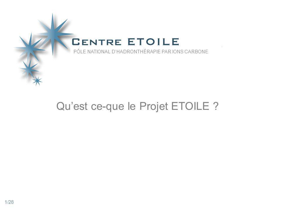 1 Quest ce-que le Projet ETOILE ? PÔLE NATIONAL DHADRONTHÉRAPIE PAR IONS CARBONE 1/28