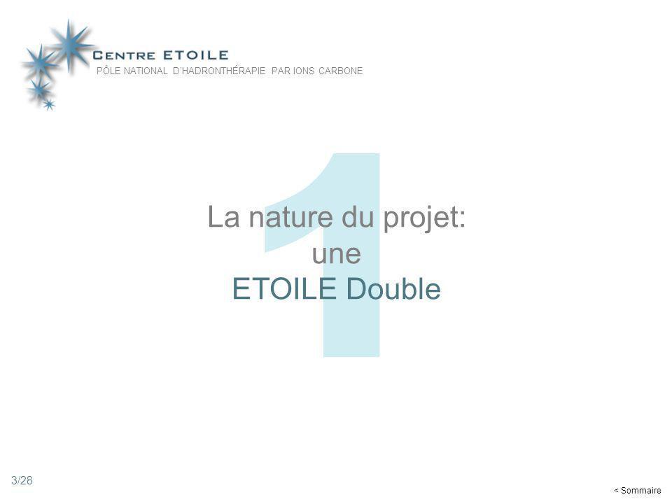 3 1 La nature du projet: une ETOILE Double < Sommaire PÔLE NATIONAL DHADRONTHÉRAPIE PAR IONS CARBONE 3/28