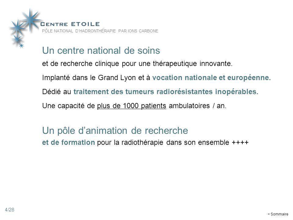 4 Un centre national de soins et de recherche clinique pour une thérapeutique innovante. Implanté dans le Grand Lyon et à vocation nationale et europé