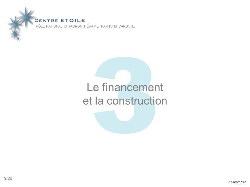 9 3 Le financement et la construction PÔLE NATIONAL DHADRONTHÉRAPIE PAR IONS CARBONE < Sommaire 9/28