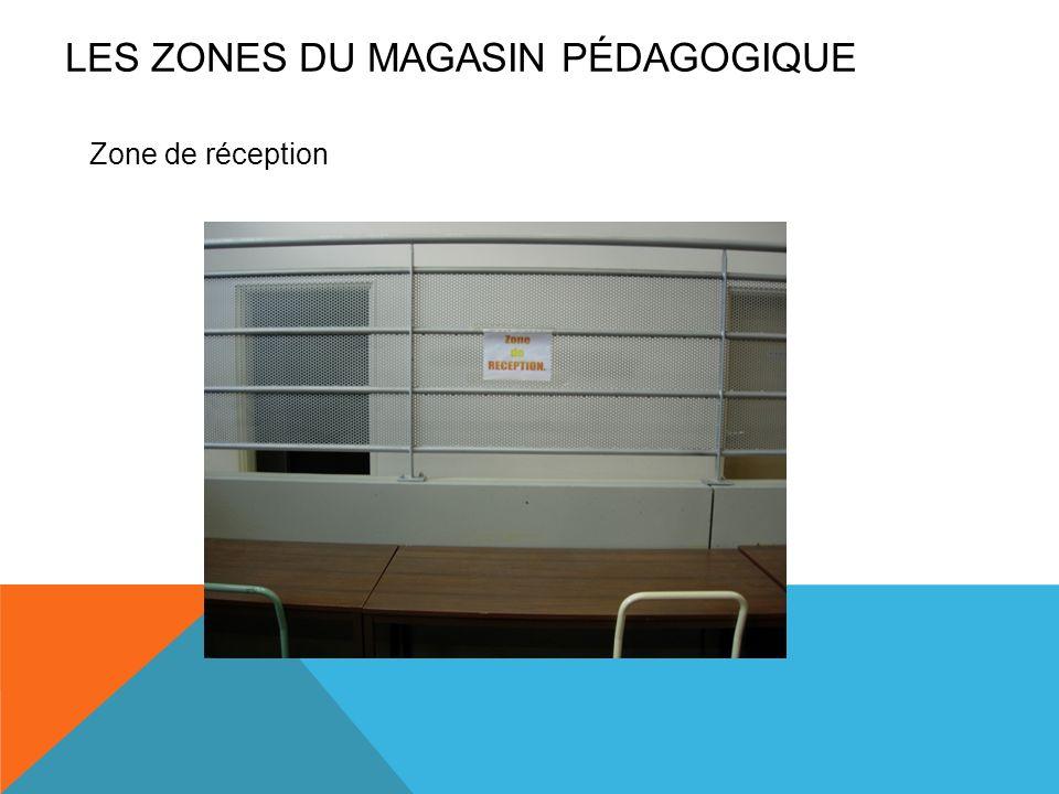 Zone de réception LES ZONES DU MAGASIN PÉDAGOGIQUE