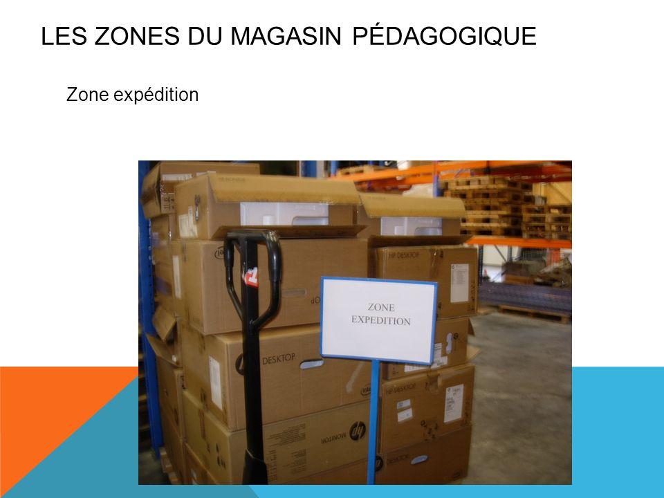 Zone expédition LES ZONES DU MAGASIN PÉDAGOGIQUE