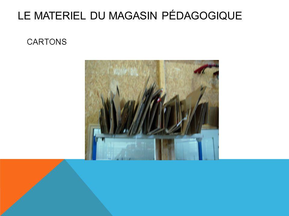 CARTONS LE MATERIEL DU MAGASIN PÉDAGOGIQUE