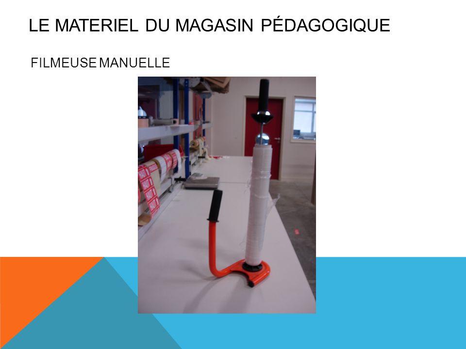 FILMEUSE MANUELLE LE MATERIEL DU MAGASIN PÉDAGOGIQUE