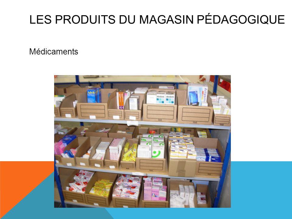 Médicaments LES PRODUITS DU MAGASIN PÉDAGOGIQUE