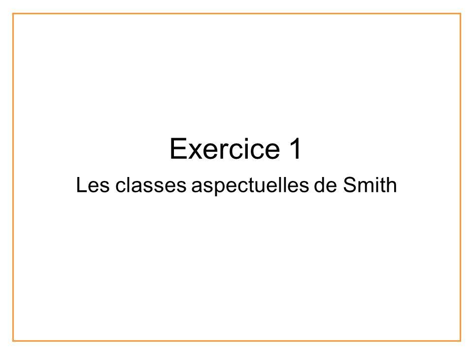 Exercice 1 Les classes aspectuelles de Smith