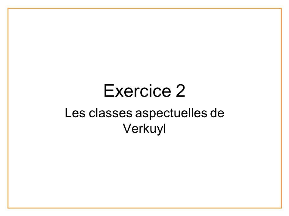 Exercice 2 Les classes aspectuelles de Verkuyl
