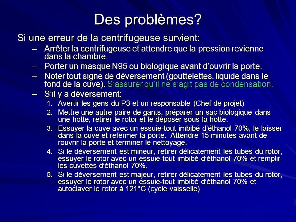 Des problèmes.