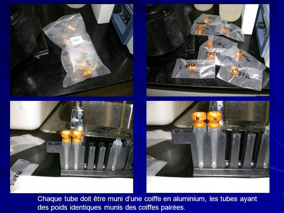 Chaque tube doit être muni dune coiffe en aluminium, les tubes ayant des poids identiques munis des coiffes pairées.